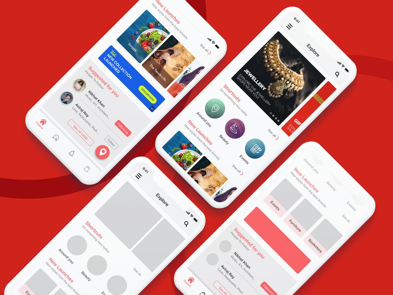 LBB Home Revamp lbb app concept ios homepage design uiuxdesign wireframe revamp home app