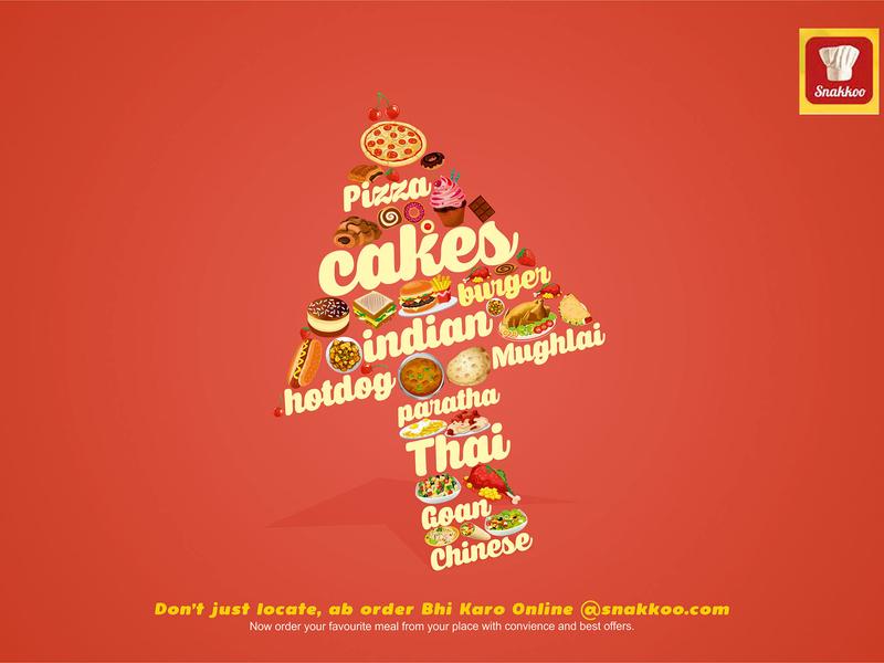 Snakoo food typography banner design