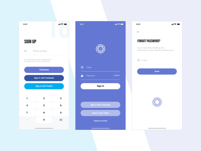 Sign Up - Sign In design a day design app signup sign in