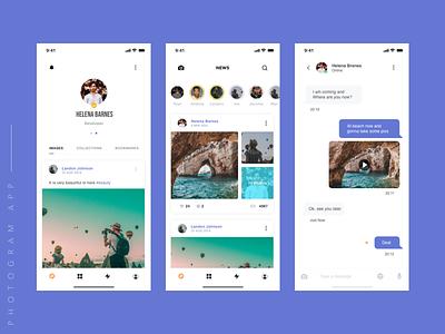 Photogram ios 10 design app app concept