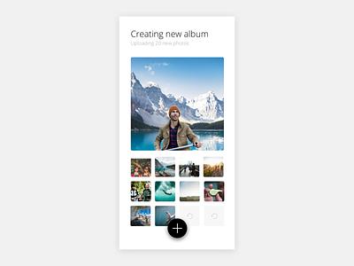 Album design app simple clean interface simple design dailyuichallenge