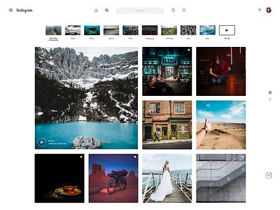Instagram_Search ideation design app concept web website design search instagram