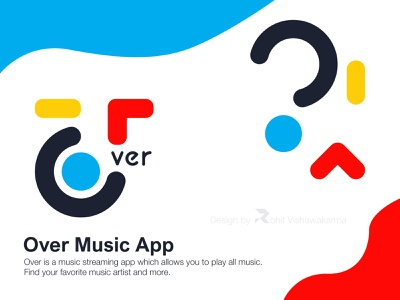 Over Music concept shape music over dribbble color logo