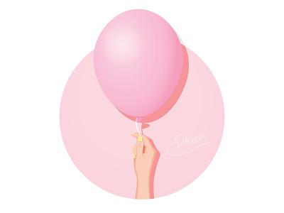 Pink Balloon balloon hand pink