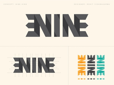 Nine King Concept Logo 2k19 dribbble prospective grid logo logo concept king nine