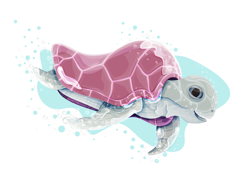 Turtle digital art digital illustration digitalart debut shot debuts debutshot debut sea illustrator vector illustration 2d art 2d ocean water adobe ilustrator tortoise vector illustration turquoise turtle