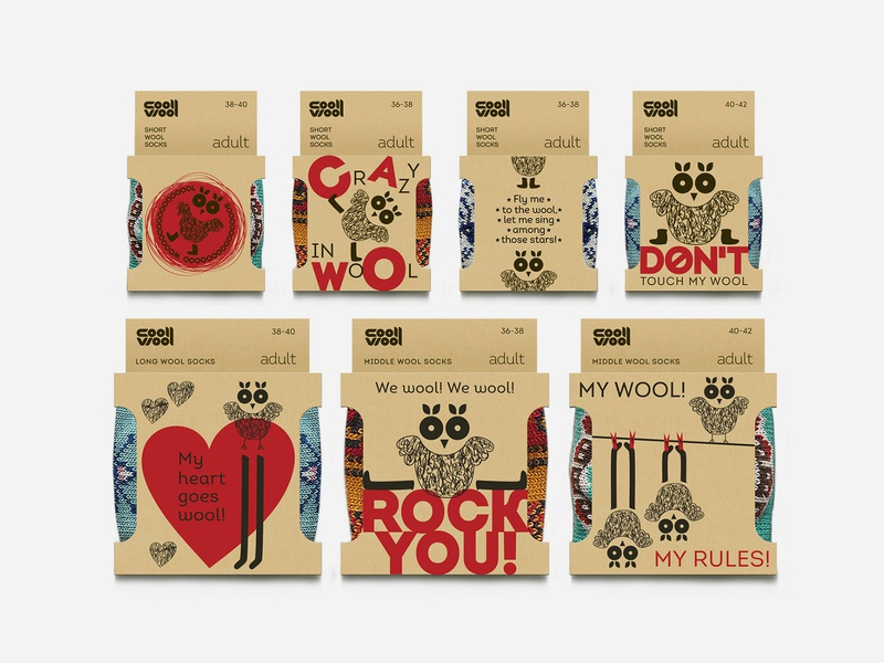 CoolWool creative brand design branding character packagedesign packaging design pack package design package packaging