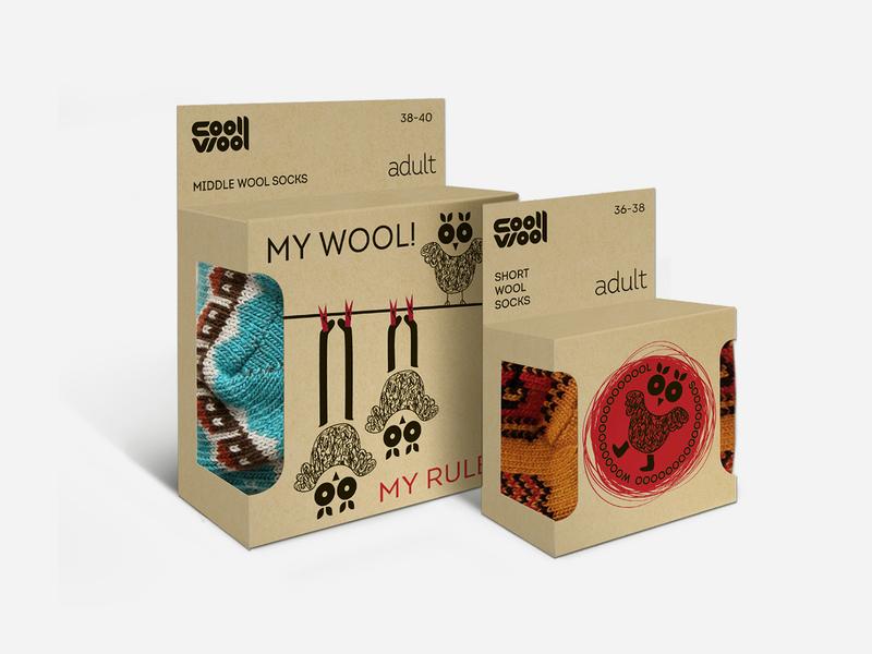 CoolWool brand branding character packaging design package design packaging package pack