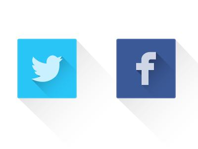 Social Shadow Icons icons fb twitter visual design