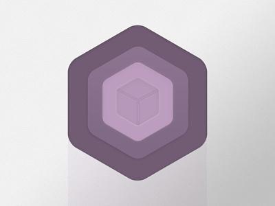 Cube Icon icon purple cube layers hexagon logo badge
