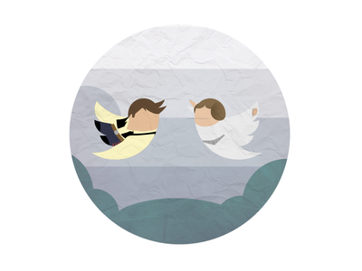 Tweet Wars twitter star wars tweet birds han solo princess leia bespin cloud 9 clouds illustration