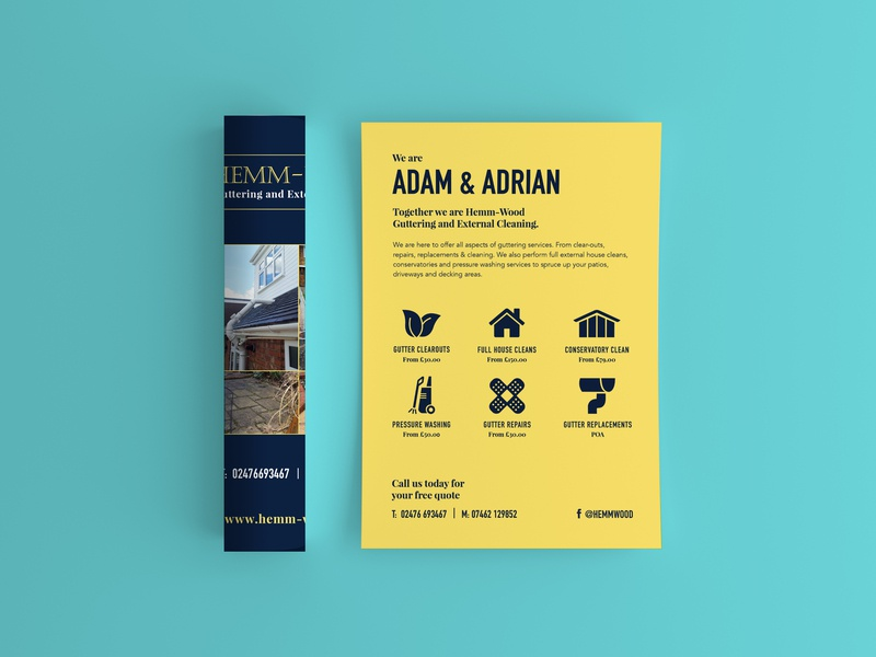 Hemm-Wood Flyer multi-channel interactive ui mobile app web modern ux icons responsive illustration campaign print logo icon art direction design art direction typography design branding