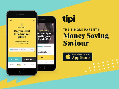 Tipi - Your money saving saviour interactive mobile icons responsive vector minimal modern flat website campaign icon animation art direction web app ux ui typography design branding
