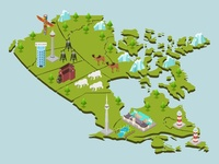 Isometric Map Of Canada