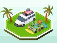 Picnic Van And Its Contents