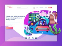 Driving Course Landing Page Illustration