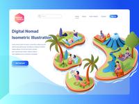 Digital Nomad for Landing Page Illustration