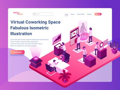 B2B Agency Business Activities for Landing Page Illustration low poly business b2b agency isometric vector illustration infographic landing page website map icon interface mobile application digital asset technology futuristic flat