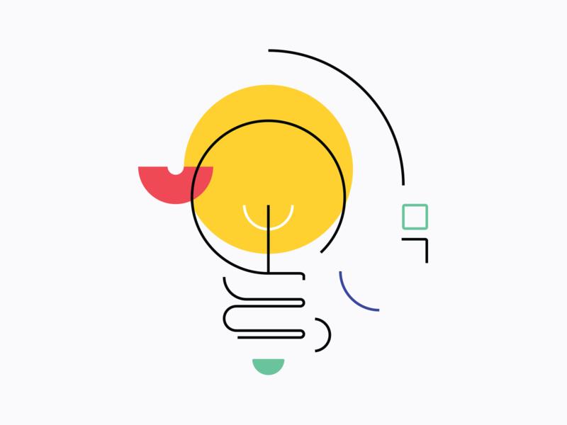 Clean Illustrations diagram target megaphone messaging illustration lightbulb