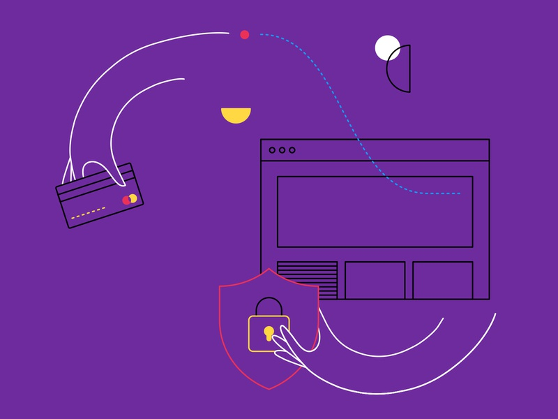Customer Story Illustrations content design brand design whitepaper ebook ecommerce security hopper flamingo impossible burger line illustration