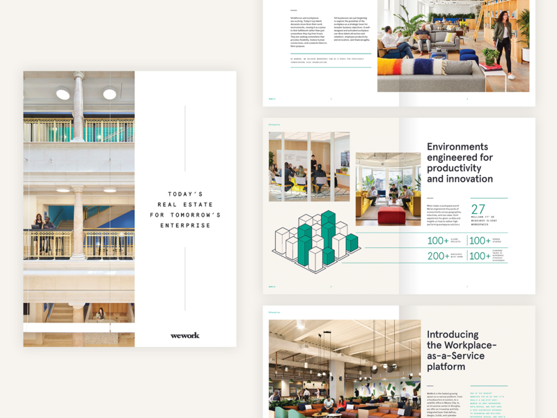 WeWork eBook content marketing branding minimal clean typography photography wework whitepaper ebook saas