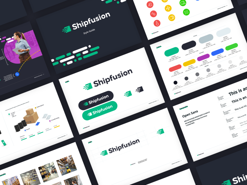 Shipfusion Brand Guide fullfillment saas ecommerce logo iconography color palette styleguide messaging brand guide brand identity
