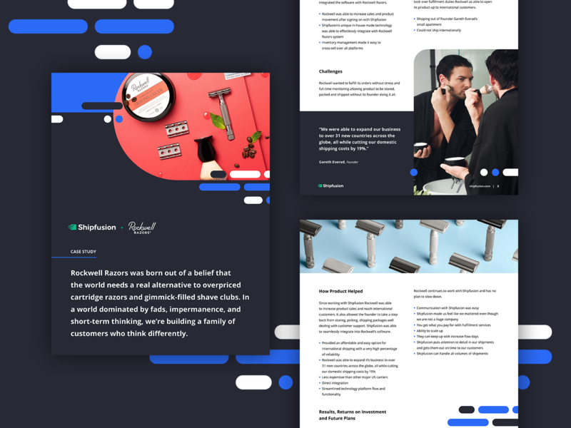 Shipfusion Case Study logo brand guide page layout ebook whitepaper brand identity saas casestudy