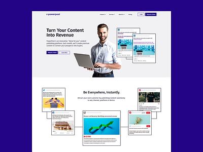 Powerpost Brand Concept minimal clean people website design and development purple powerpost brand identity website design saas