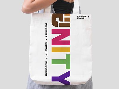 Community Council Bag pride branding logo council inclusion diversity unity community saas