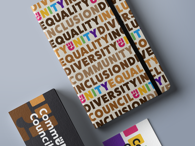 Community Council Notebook saas branding logo council unity diversity inclusion equality community notebook