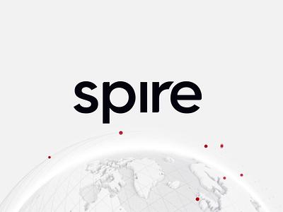 Spire Logo gradients sub brands satellite globe website brand identity branding spire logo