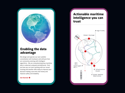 Spire Mobile Website infographic tech data saas globe website responsive mobile space satellites