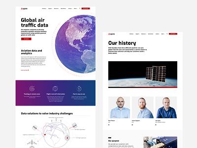 Spire Website enterprise responsive leadership infographic data saas satellite globe design website