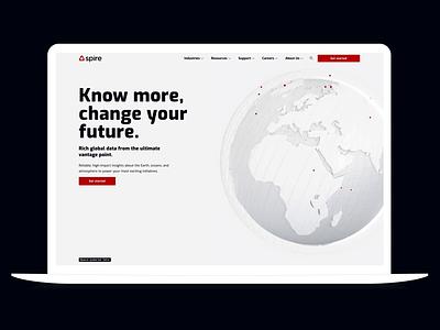 Spire Website Homepage aviation maritime weather globe space website data saas satellites homepage