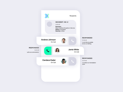 xmatters platform drop shadow alerts brand identity web design website branding workflow web call tech product platform saas