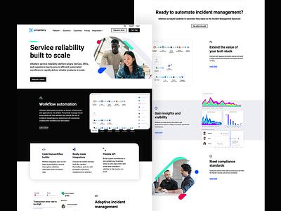 xMatters Website Design ui san francisco gradient branding platform web design website saas