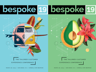 Cordial Bespoke19 Event Posters