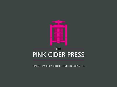 Pink Cider Press vector logo cider