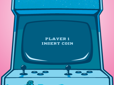 Arcade Machine Poster vector illustrator arcade machine
