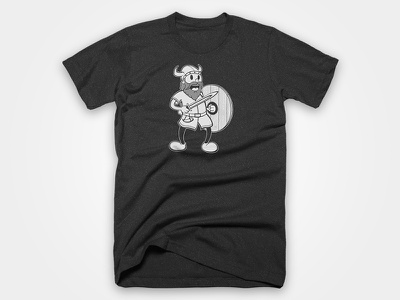 Viking Tee viking vector t-shirt illustration