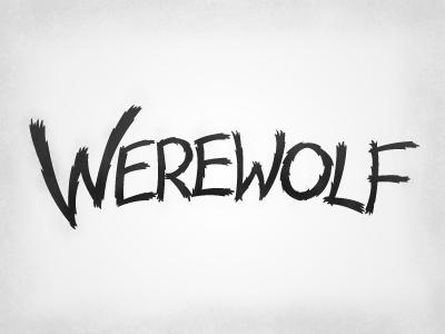 Werewolf Type werewolf typography