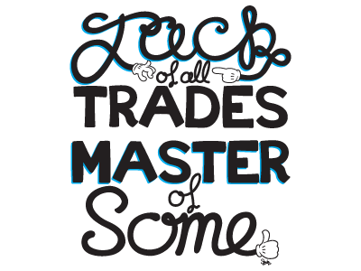 Jack Type illustration typography vector