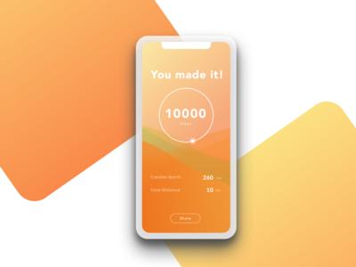 Flash Screen for Fitness App #dailyui