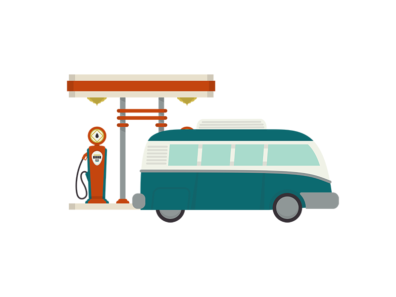 Gasstation dribbble