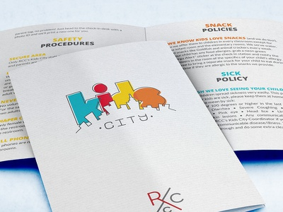 Logo | Kids City rcc redemption city kids city kids kidmin booklet print city skyline overprint off register