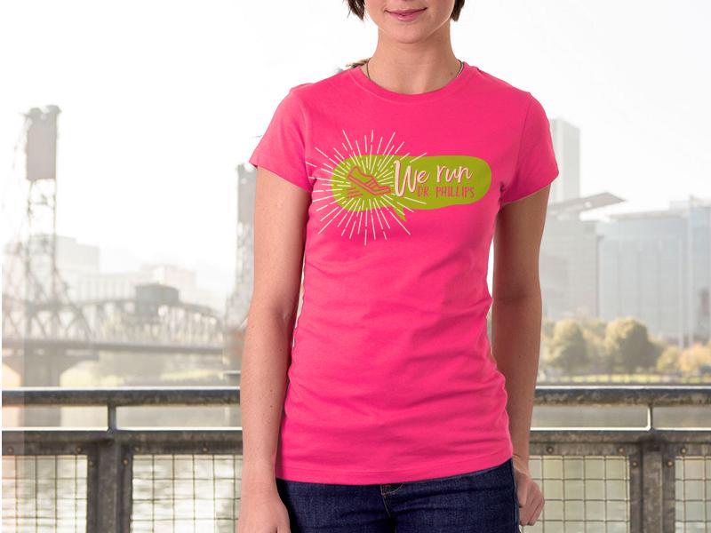 Tshirt - We Run feminine running club women runner icon handdrawn running tshirt