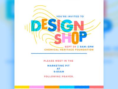 Design Shop Invitation