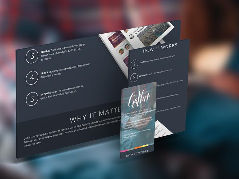 Gather App [Dead} web design website landing app page landing page