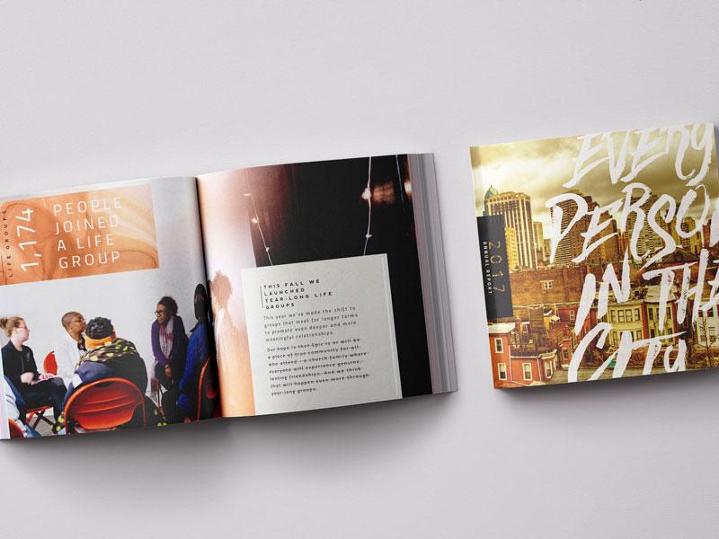 Print | 2017 Annual Report crtvmin report book print church church design print design annual report