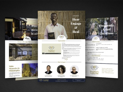 Presidents Gathering phldesign branding micro site ui design non-profit visual design web design landing page event